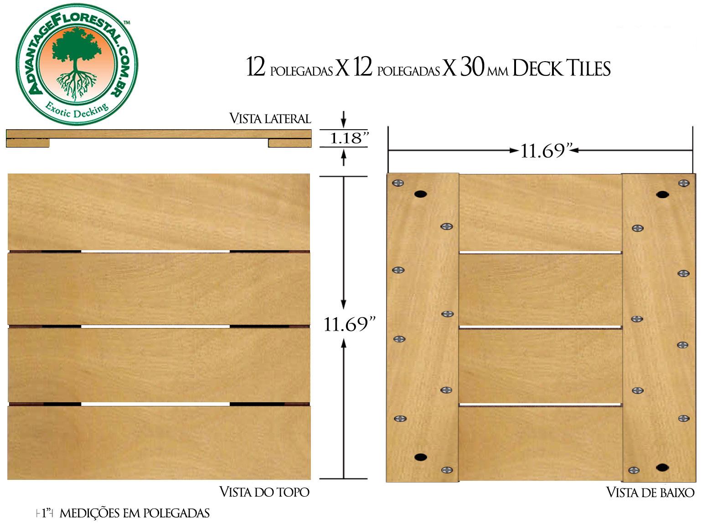 Tatajuba Deck Tile 12in. x 12 in. x 30mm