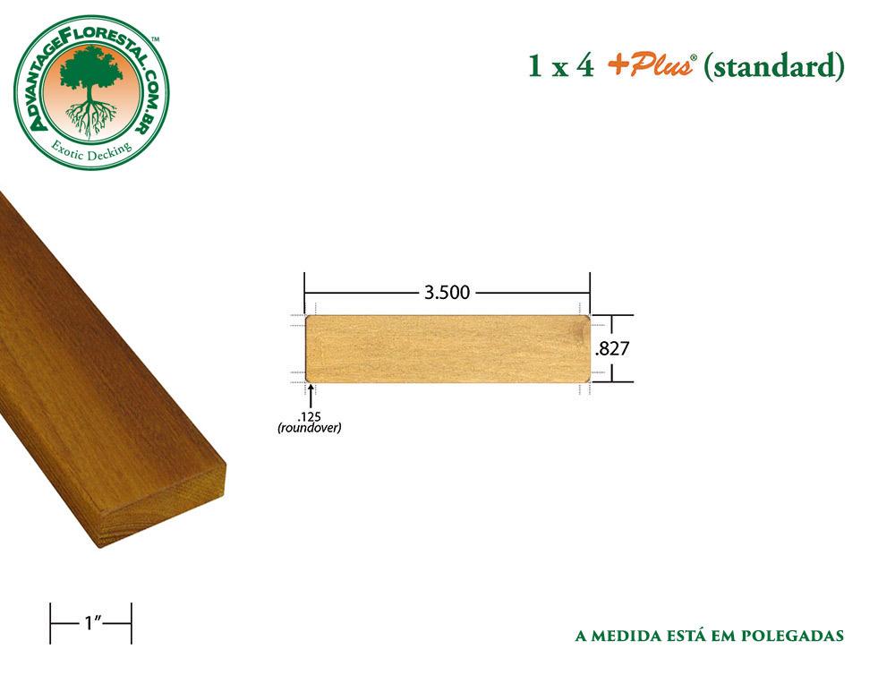 Exótico Padrão garapa Dimensional Decking Lumber 1in. x 4 in. plus