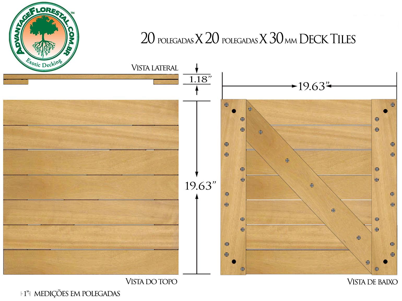 Tatajuba Deck Tile 20 in. x 20 in. x 30mm