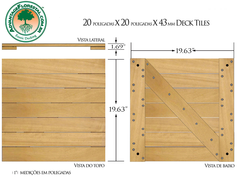 Tatajuba Deck Tile 20 in. x 20 in. x 43mm