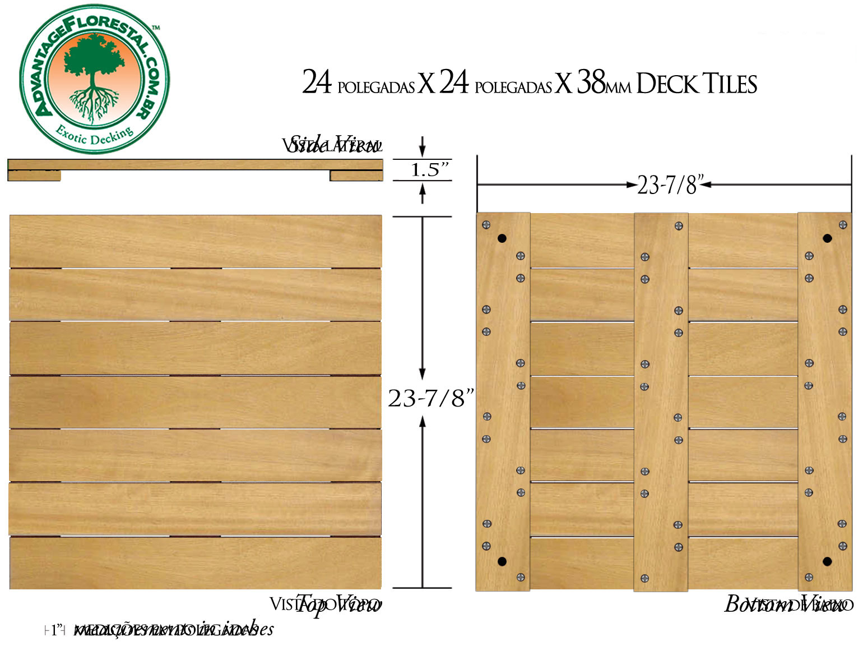 Tatajuba Deck Tile 24 in. x 24 in. x 38mm