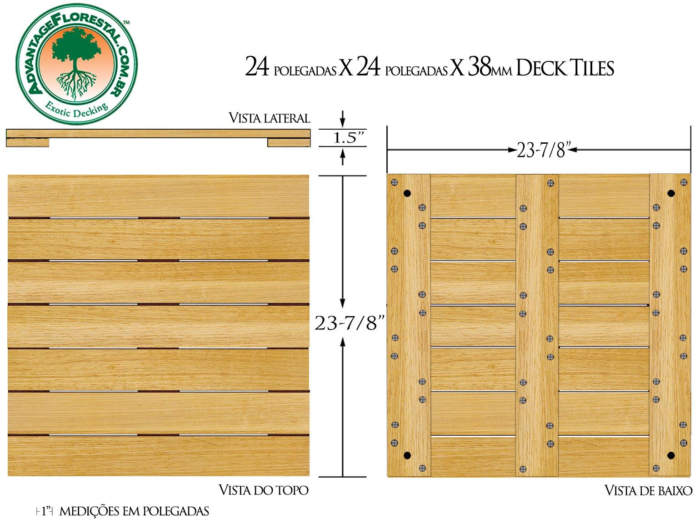 Tauari Deck Tile 24 in. x 24 in. x 38mm