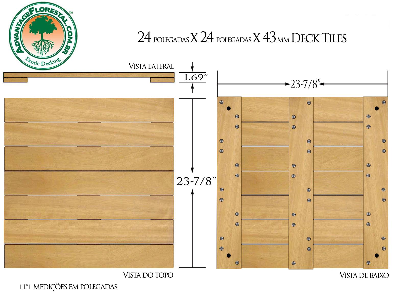 Tatajuba Deck Tile 24 in. x 24 in. x 43mm