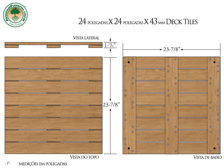 Tauari Deck Tile 24 in. x 24 in. x 43mm